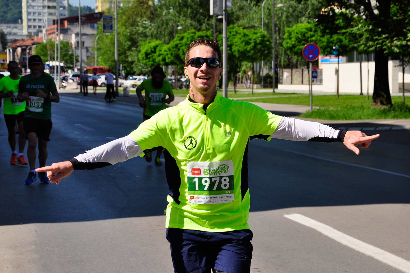 banja luka today - marathon race runner